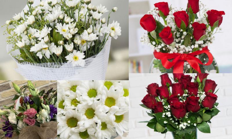 Özel Günler İçin Çiçeklere Not Kartı Ekleyin